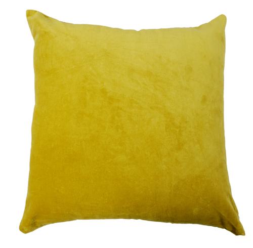 Kirti Finishing Light Green Solid Velvet Cushion Cover 16 inches Set of 5