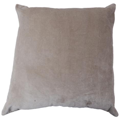 Kirti Finishing Light Gray Solid Velvet Cushion Cover 16 inches Set of 5