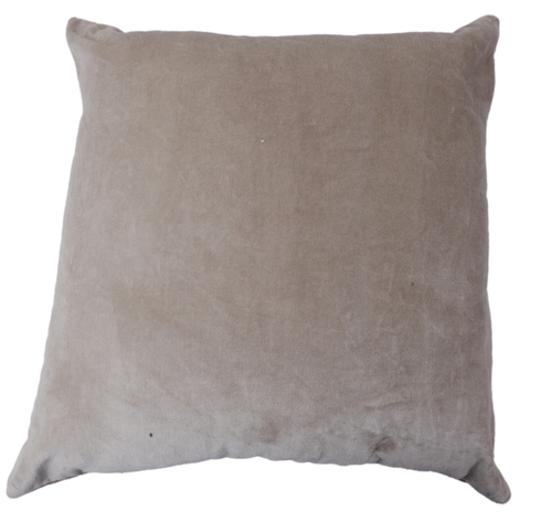 Kirti Finishing Light Gray Solid Velvet Cushion Cover 16 inches Set of 5