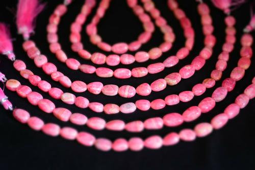 Rhodocrosite Nugget Beads