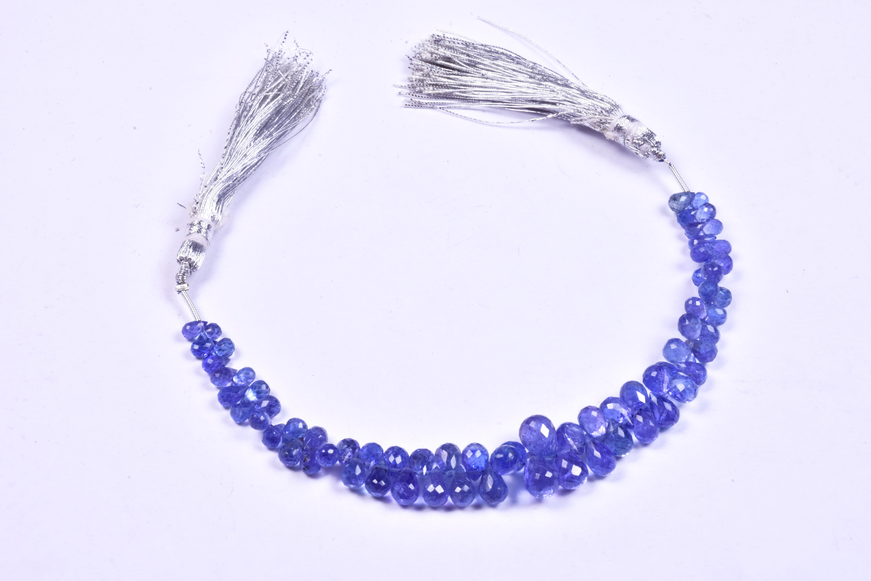 Tanzanite Drops Beads