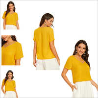 Yellow Color Tipsy 363 Cotton Round Neck Half Sleeve T-shirt