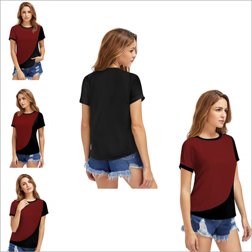 Maroon Color Tipsy 332 Knitting T-shirt Round Neck Half Sleeve