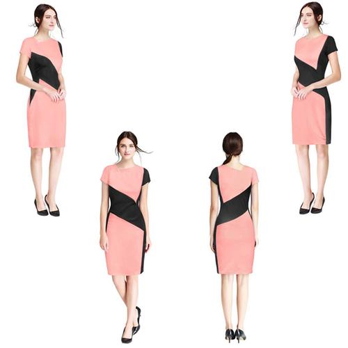 Pink Color Nitting Dress
