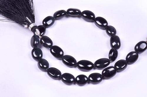 Black Jade Oval Beads