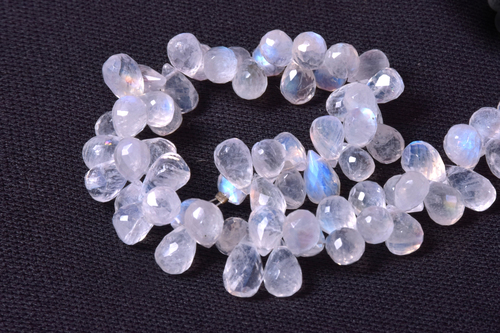 Rainbow Moonstone Drops Faceted Beads