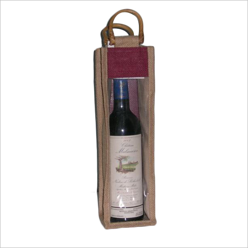 See Through Jute Wine Bag
