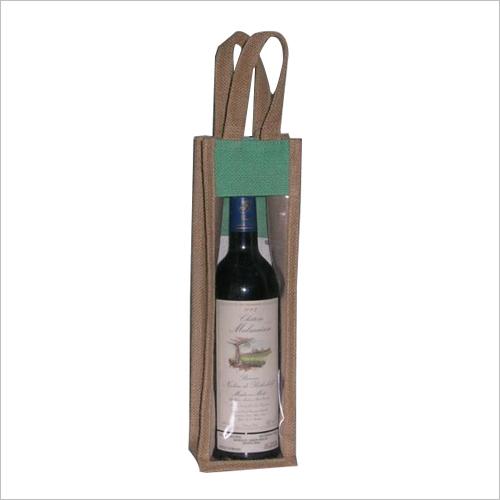 Multi color Jute Wine Bag