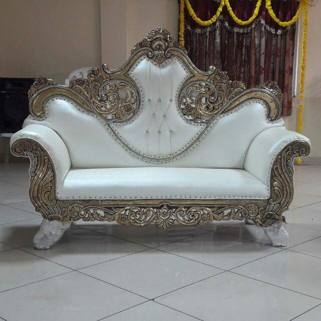 Medieval Style Wooden Sofa