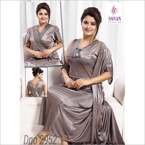 Ladies Satin Stylish Night Gown
