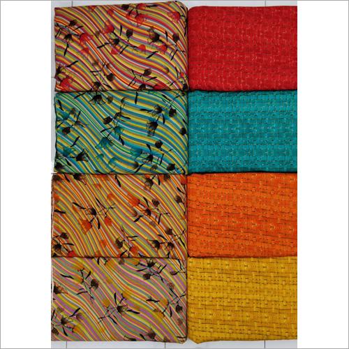 Printed Dress Material Fabric