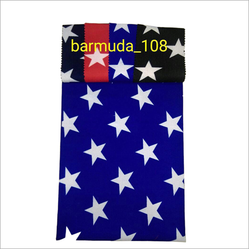 Star Printed barmuda Fabric