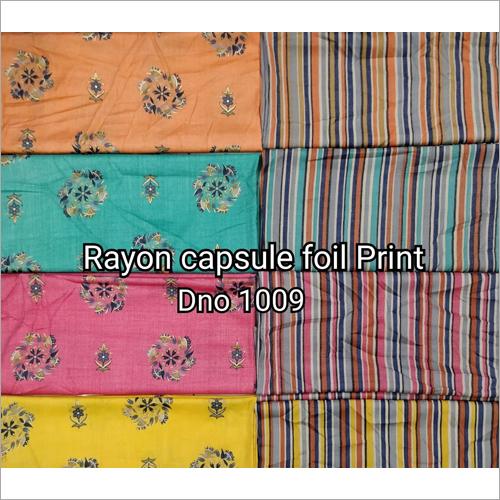Rayon Capsule Foil Print Fabric
