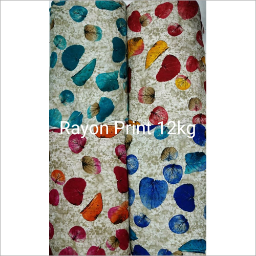Rayon Print Garments Fabric