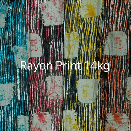 14 Kg Rayon Digital Print Fabric