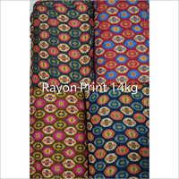 14 Kg Rayon Designer Print Fabric