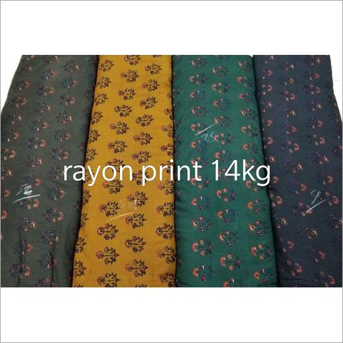 14 Kg Rayon Print Fabric