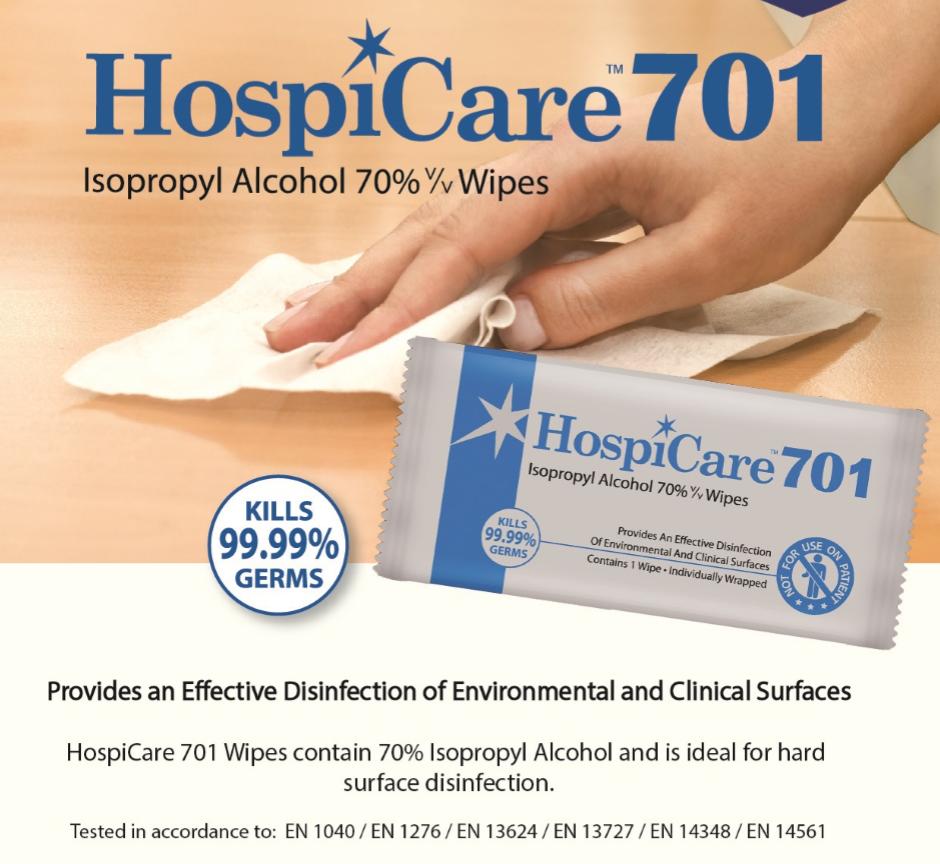 70% Isopropyl Alcohol Wipes