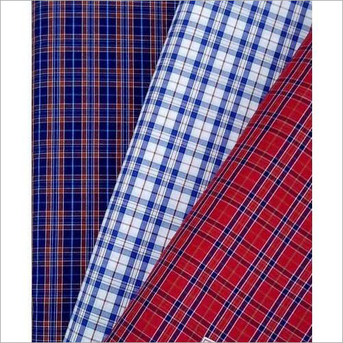Cotton Check Printed Fabric