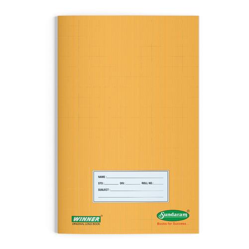 Sundaram  Winner Brown Original Long Book - 76 Pages (L-25B)