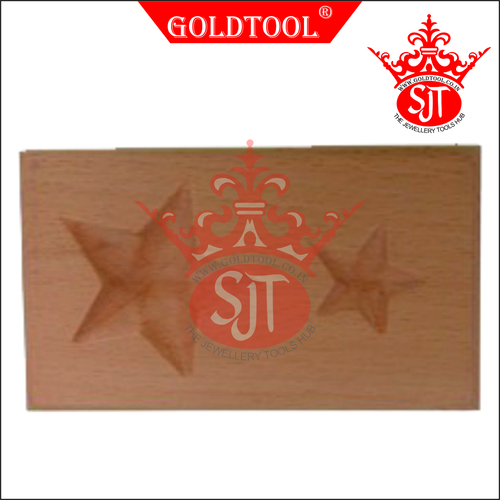 Gold Tool 2 Cavity Star Dapping Block