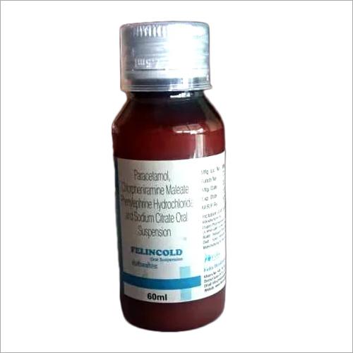60 Ml Paracetamol Chlorpheniramine Maleate And Phenylephrine Hcl And Sodium Citrate Oral Syrup