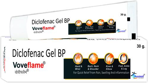 Diclofenac Diethylamine IP 1.16% w/w +Eq. to Diclofenac  Sodium  IP 1.00% w/w + chlorocresol IP 0.1% w/w/VOVEFLAM
