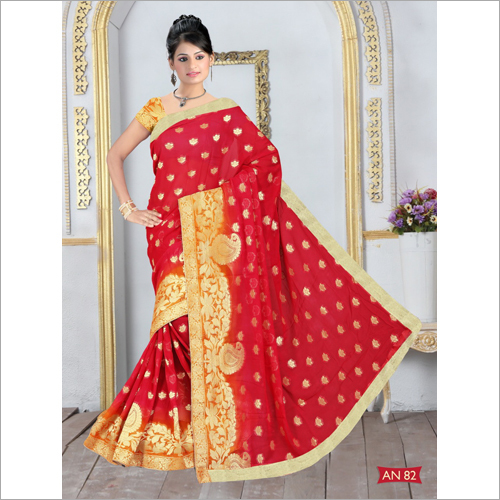 Ladies Printed Silk Viscose Saree