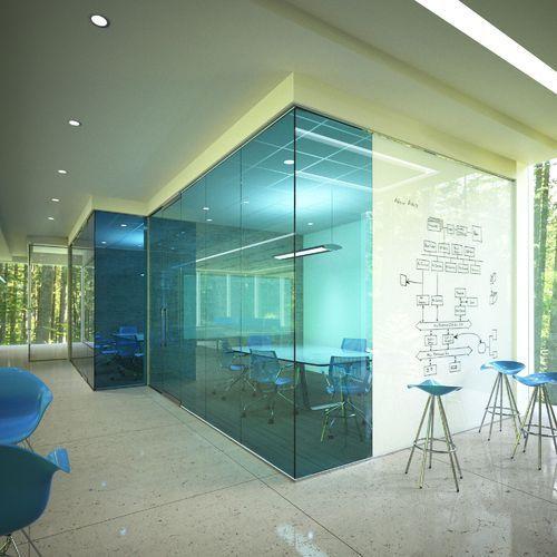 Coloured Floor Glass