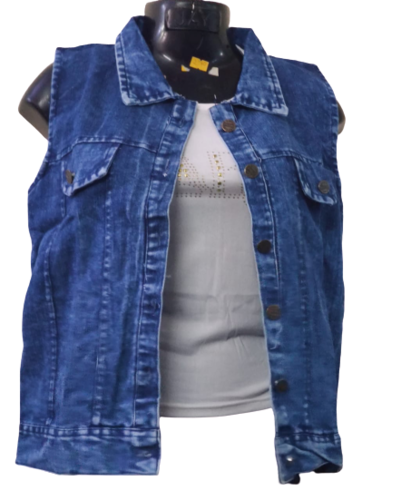 Girls sleeveless Denim Jacket