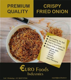 Premium Quality Dehydrated Fried Onion Flakes