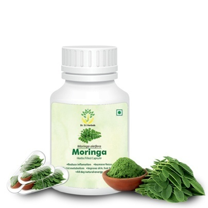 Moringa Herb Filled Capsules