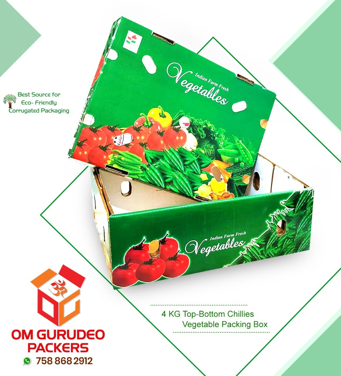 Vegetables Corrugated Packaging Box