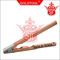 Gold Tool Wooden Ring Holding Pliers With Spring Grip