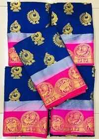 CHIT PALLU PRINTED SAREE
