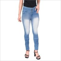 Regular Button Ladies High Rise Denim Jeans, Waist Size: 28-32