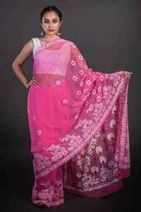 Georgette Chikan Saree