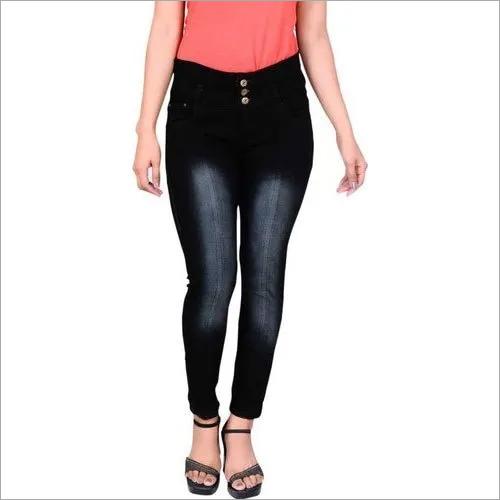 Ladies Slim Fit Black Denim Jeans