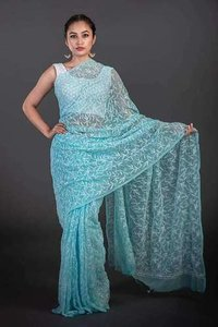 Georgette Chiakn Saree