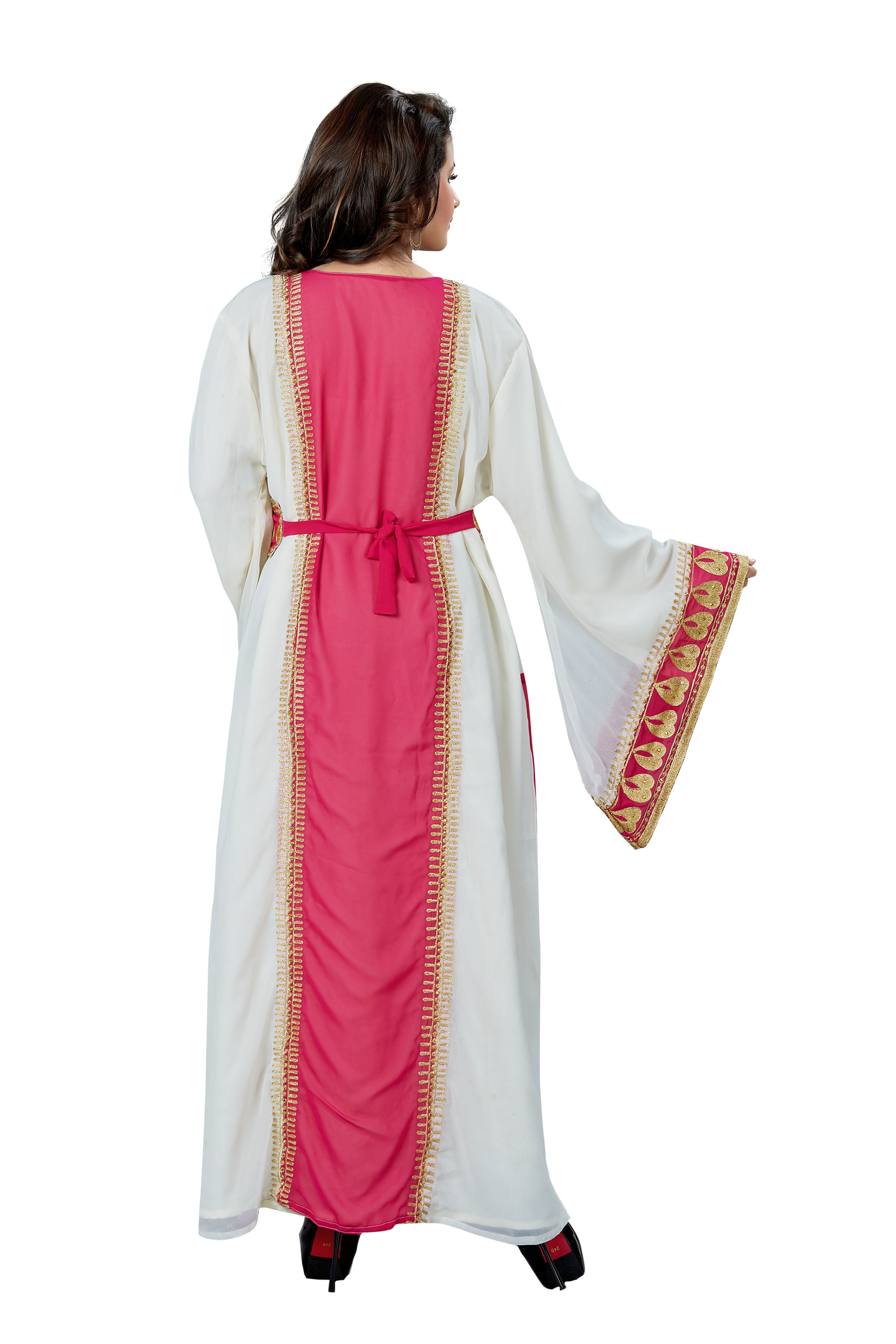 Gorgeous Takchita Moroccan Fancy Arabic Embroidered Kaftan for Women