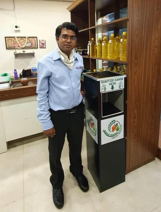 Stand Alone Automatic Sanitizer Dispenser