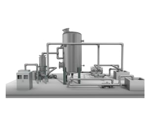 W-SSCS[Super Steam Carbon System] adsorbs and removes water pollutants