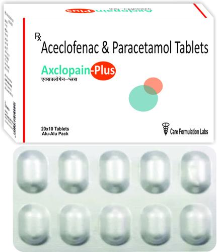 Aceclofenac IP 100mg + Paracetamol IP 325MG./AXCLOPAIN-PLUS