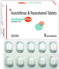 Aceclofenac IP 100mg + Paracetamol IP 325MG./AXCLOPAIN-PLUS