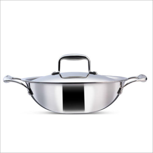 20 cm - 1.5 Ltr 3 Ply Stainless Steel Kadai