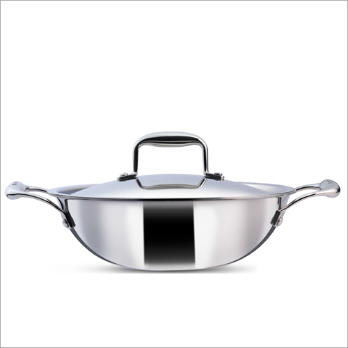 24 cm - 2.2 Ltr 3 Ply Stainless Steel Kadai