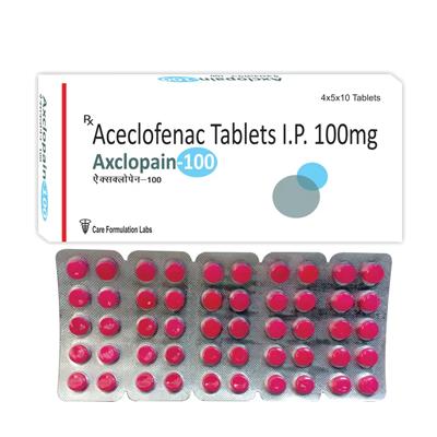 Aceclofenac IP 100 mg./AXCLOPAIN-100