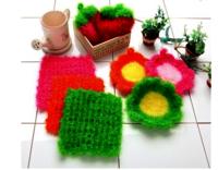 100% Polyester Crochet Cleaner/Scrubber for kitchen from Korea
