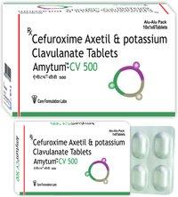 Cefuroxime Axetil 500 mg +Potassium Clavulanic cid 125 mg/AMYTUM-CV-500