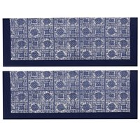 Kirti Finishing Denim Printed 5 Seater Sofa Slip Cover